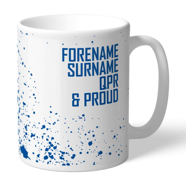 Personalised QPR FC Proud Mug