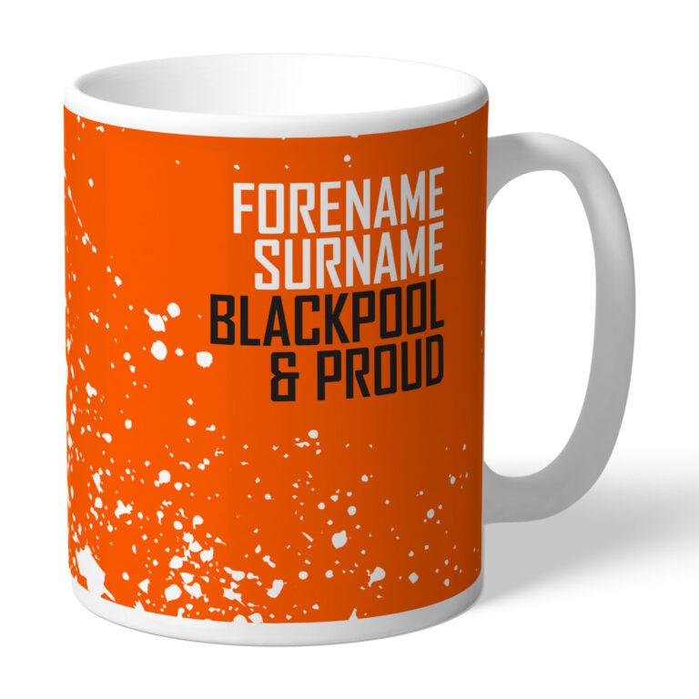 Personalised Blackpool FC Proud Mug