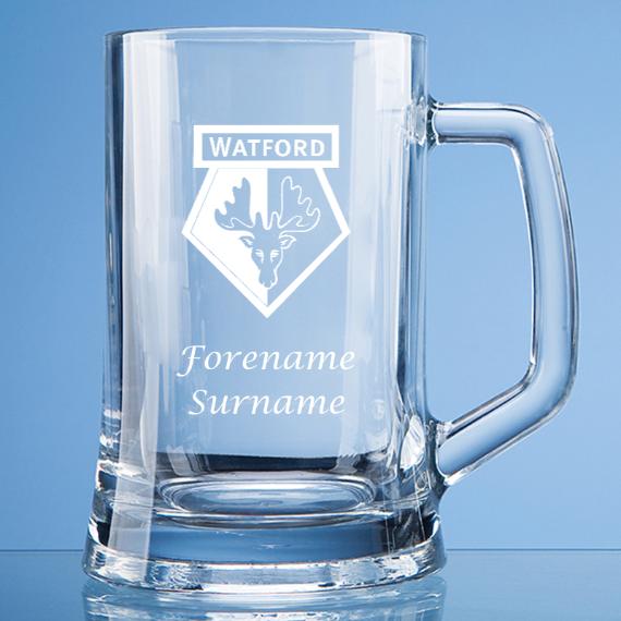 Personalised Watford FC Straight Sided Tankard