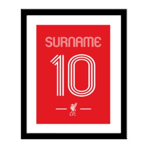 Personalised Liverpool FC Retro Shirt Print