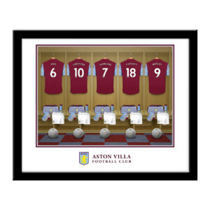 Personalised Aston Villa FC Dressing Room Framed Print