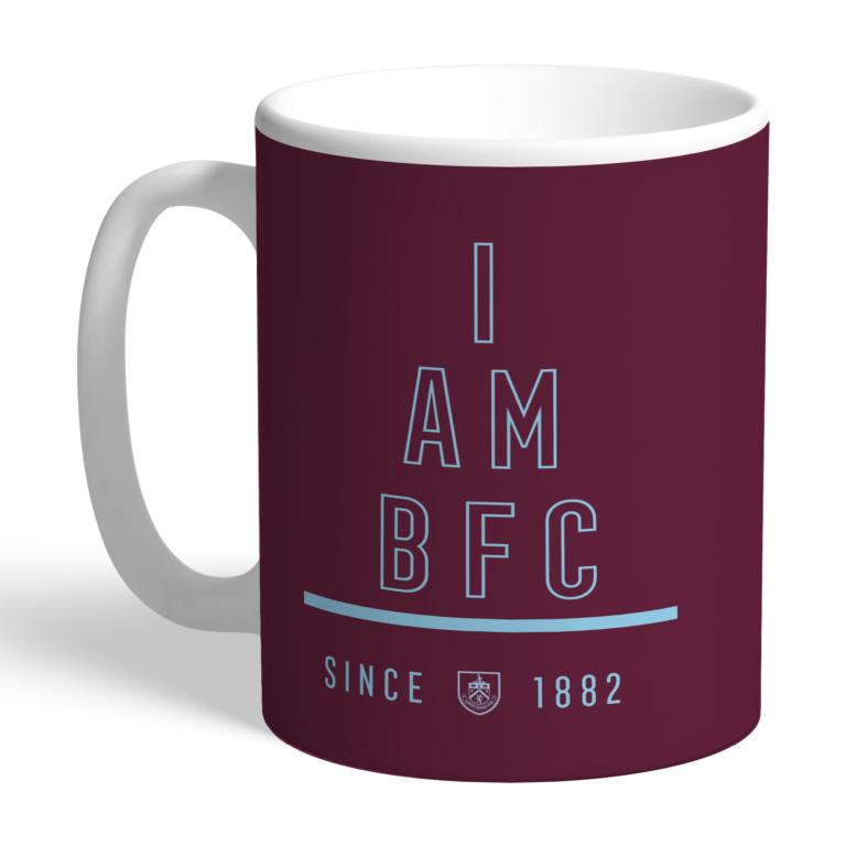 Personalised Burnley FC I Am Mug