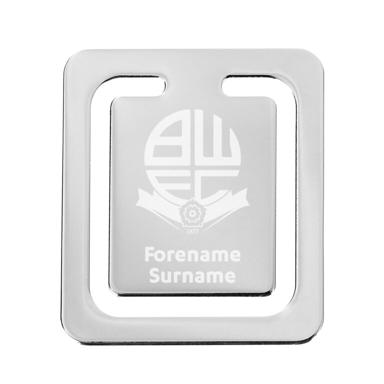 Personalised Bolton Wanderers FC Crest Bookmark