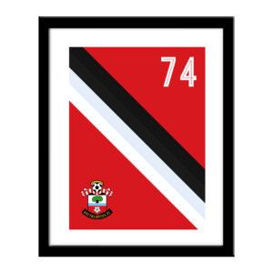 Personalised Southampton FC Stripe Print