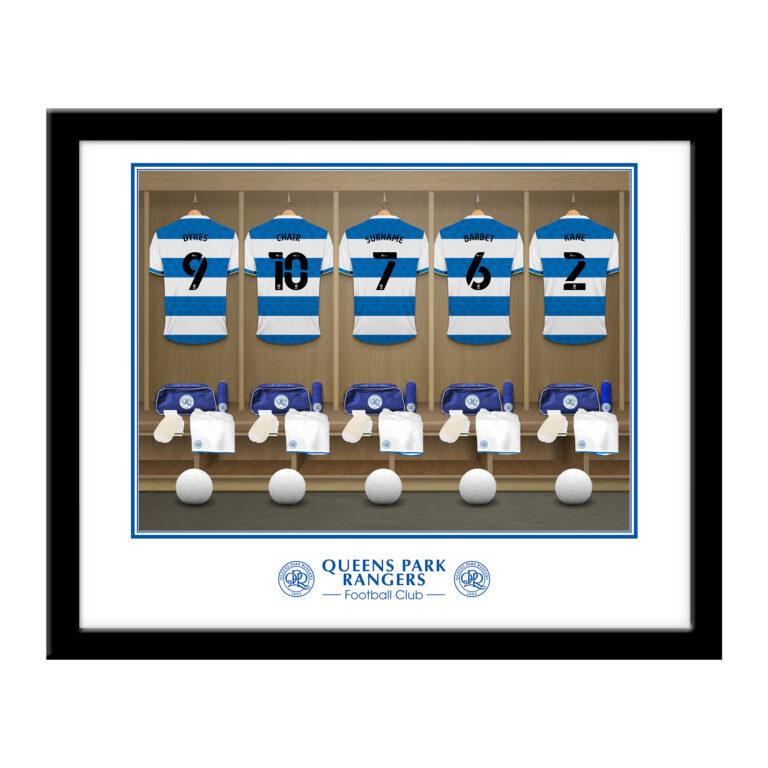 Personalised QPR FC Dressing Room Framed Print