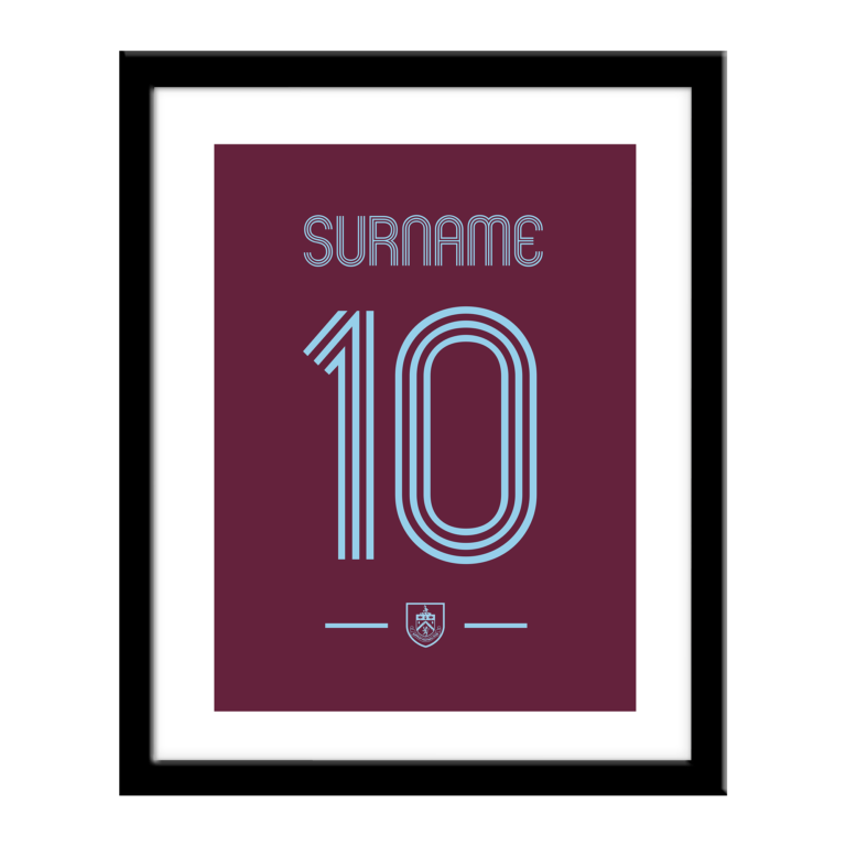 Personalised Burnley FC Retro Shirt Print