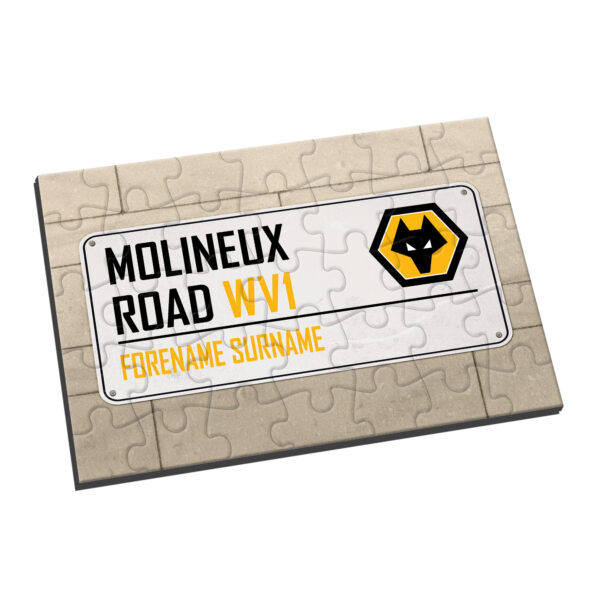 Personalised Wolverhampton Wanderers FC Street Sign Jigsaw