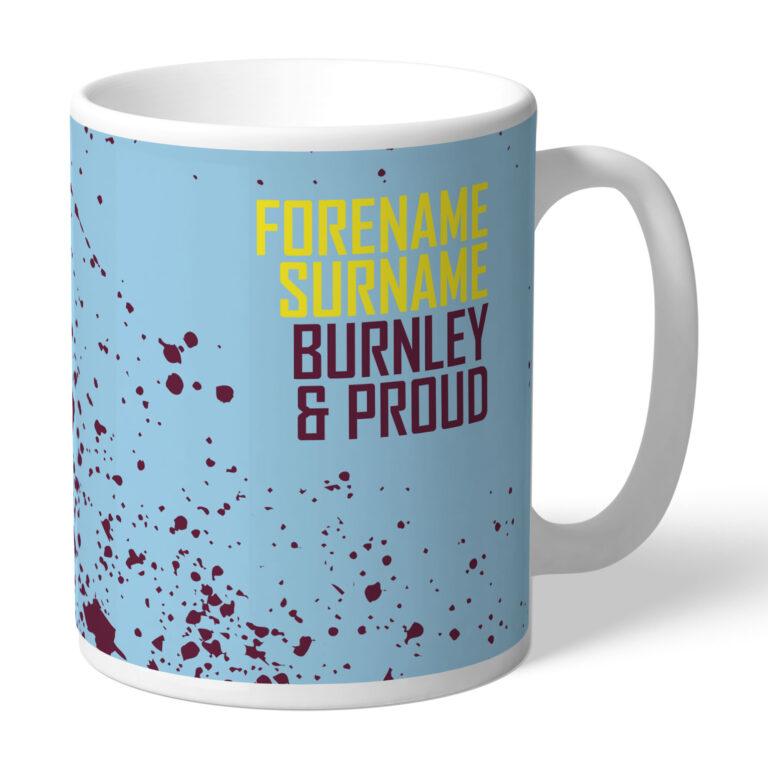 Personalised Burnley FC Proud Mug