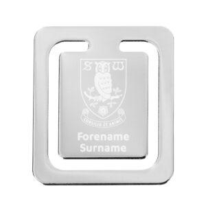 Personalised Sheffield Wednesday FC Crest Bookmark