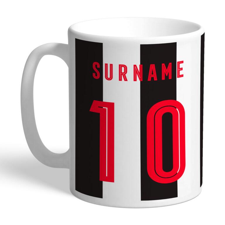 Personalised Newcastle United FC Retro Shirt Mug
