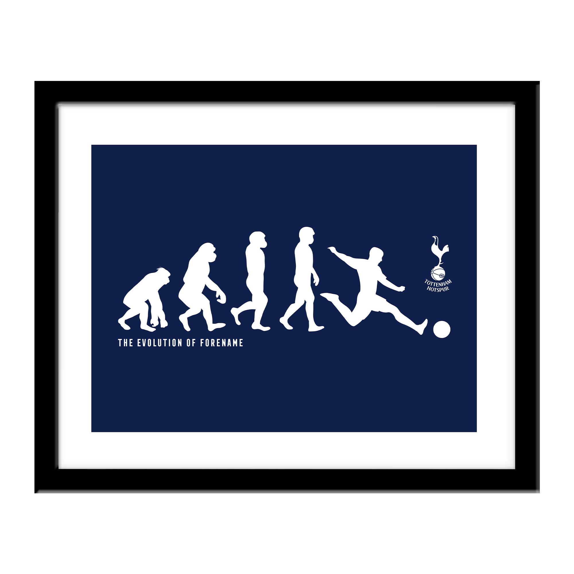 Personalised Tottenham Hotspur FC Evolution Print