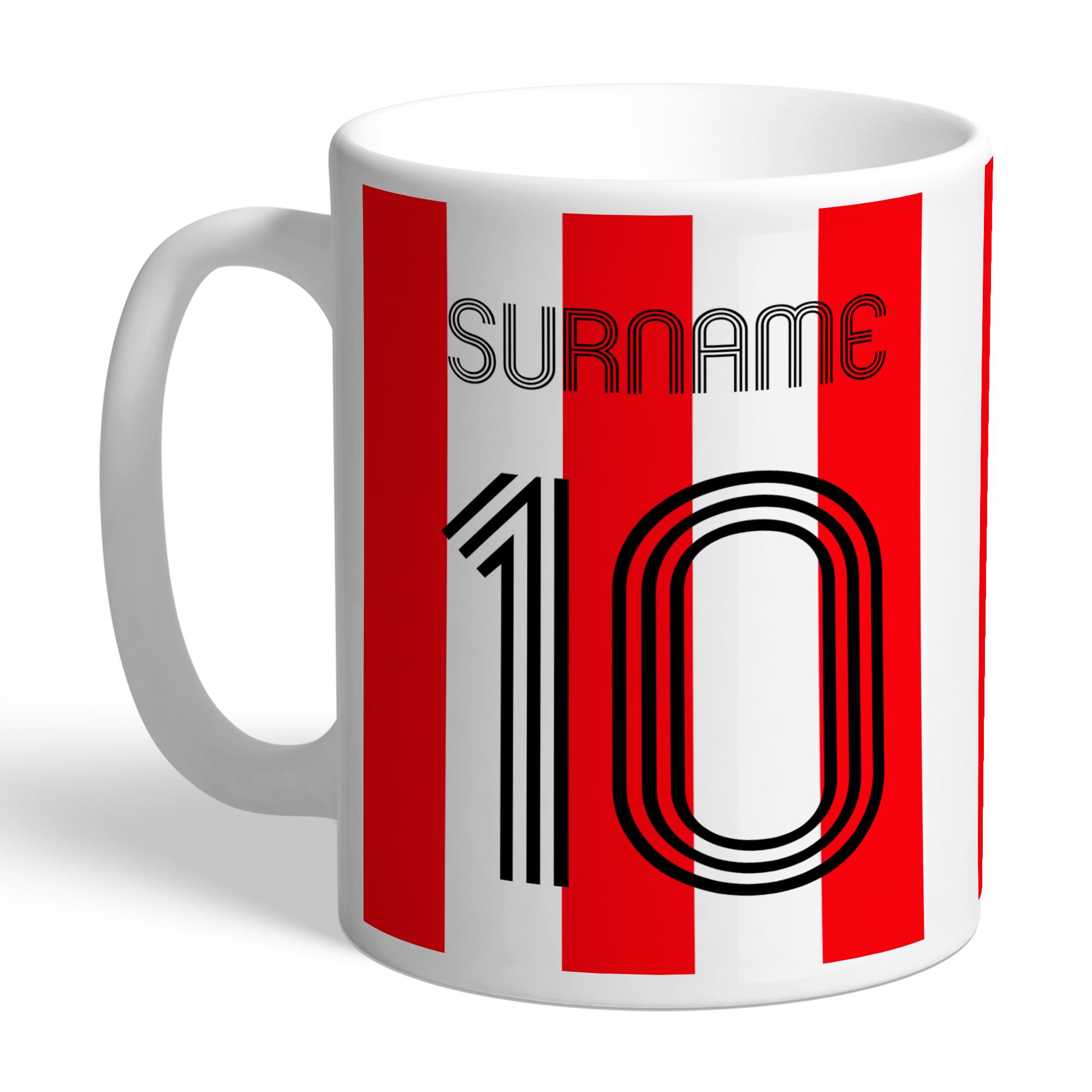 Personalised Sunderland FC Retro Shirt Mug