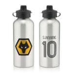 Personalised Wolverhampton Wanderers FC Retro Shirt Water Bottle