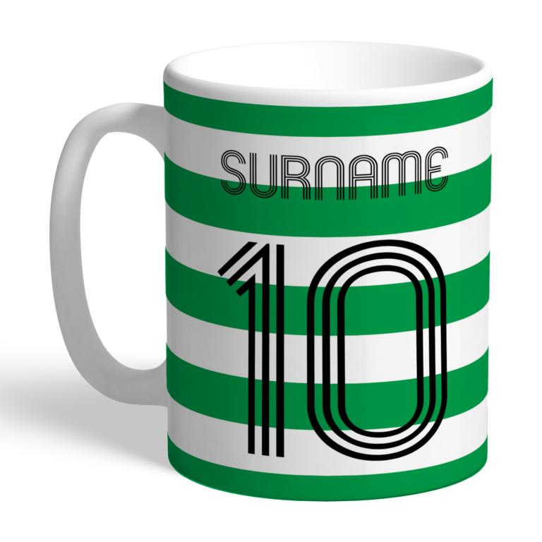 Personalised Celtic FC Retro Shirt Mug