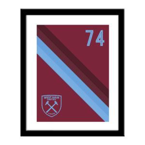 Personalised West Ham United FC Stripe Print
