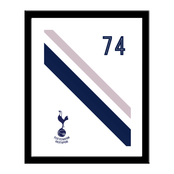 Personalised Tottenham Hotspur FC Stripe Print