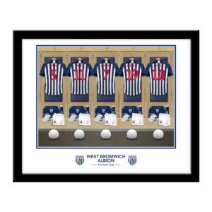 Personalised West Brom FC Dressing Room Framed Print