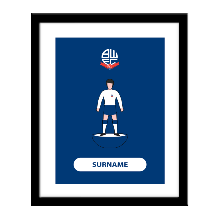 Personalised Bolton Wanderers FC Player Figure Print