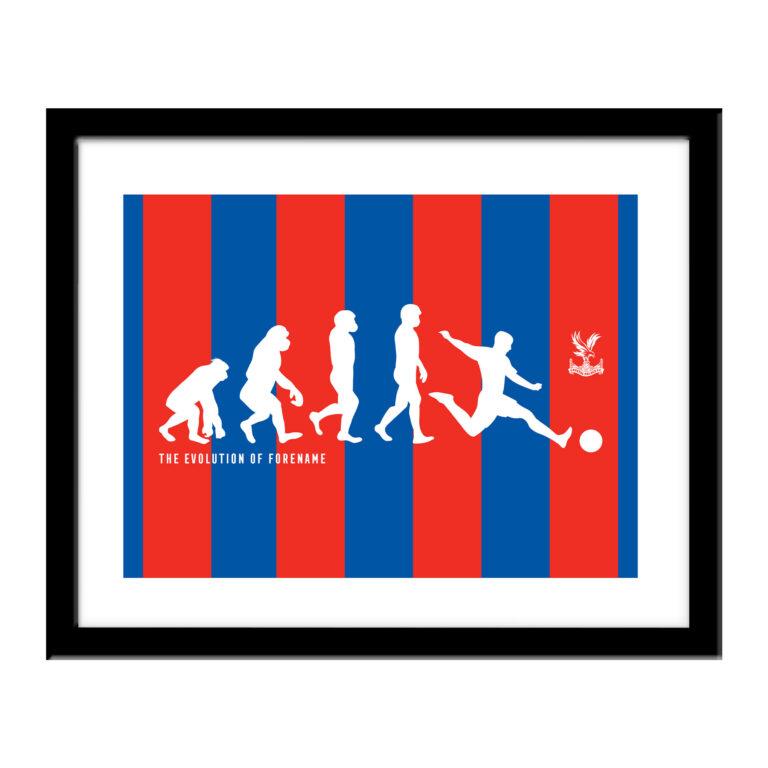 Personalised Crystal Palace FC Evolution Print