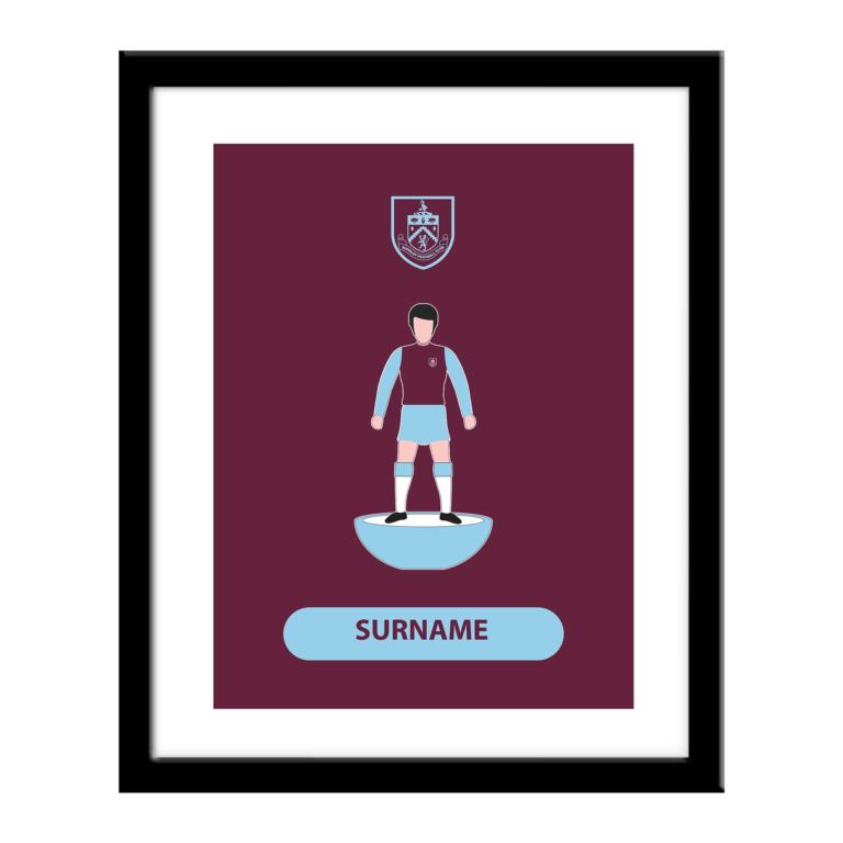Personalised Burnley FC Player Figure Print