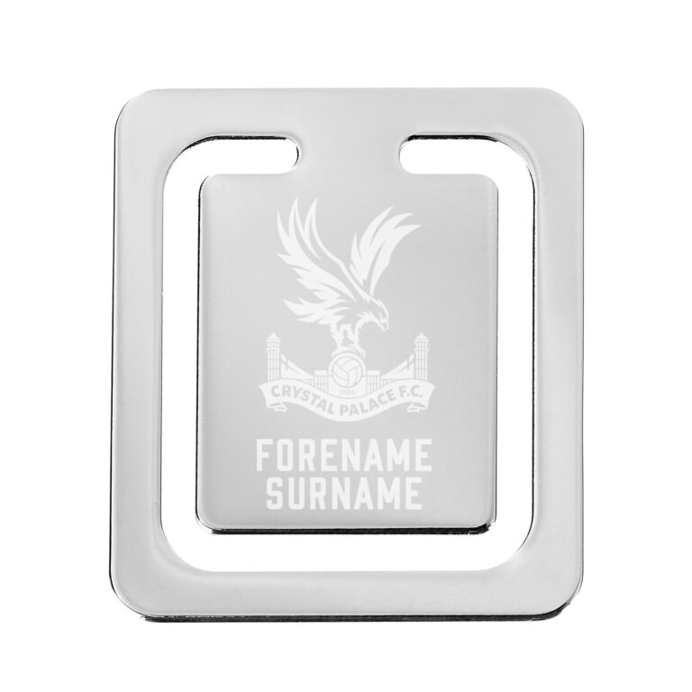 Personalised Crystal Palace FC Crest Bookmark