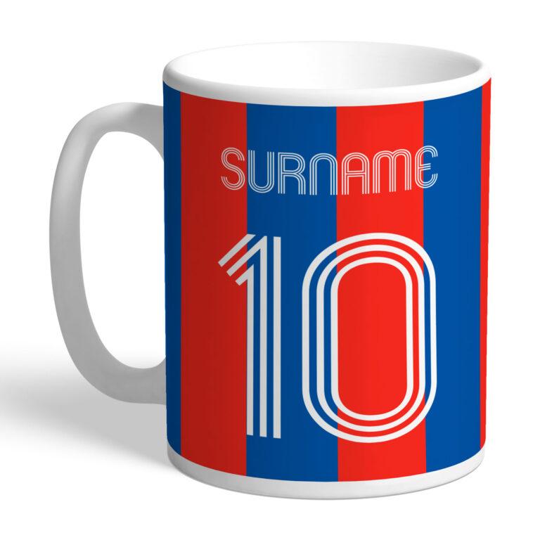 Personalised Crystal Palace FC Retro Shirt Mug