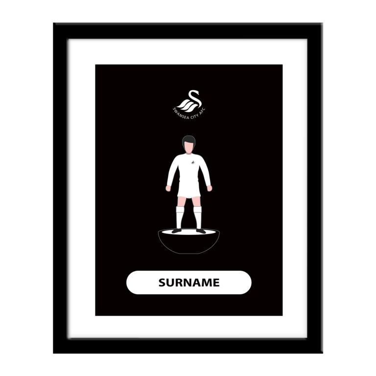 Personalised Swansea City FC Player Figure Print
