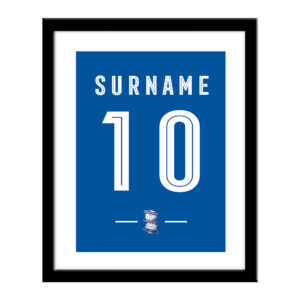 Personalised Birmingham City FC Retro Shirt Print