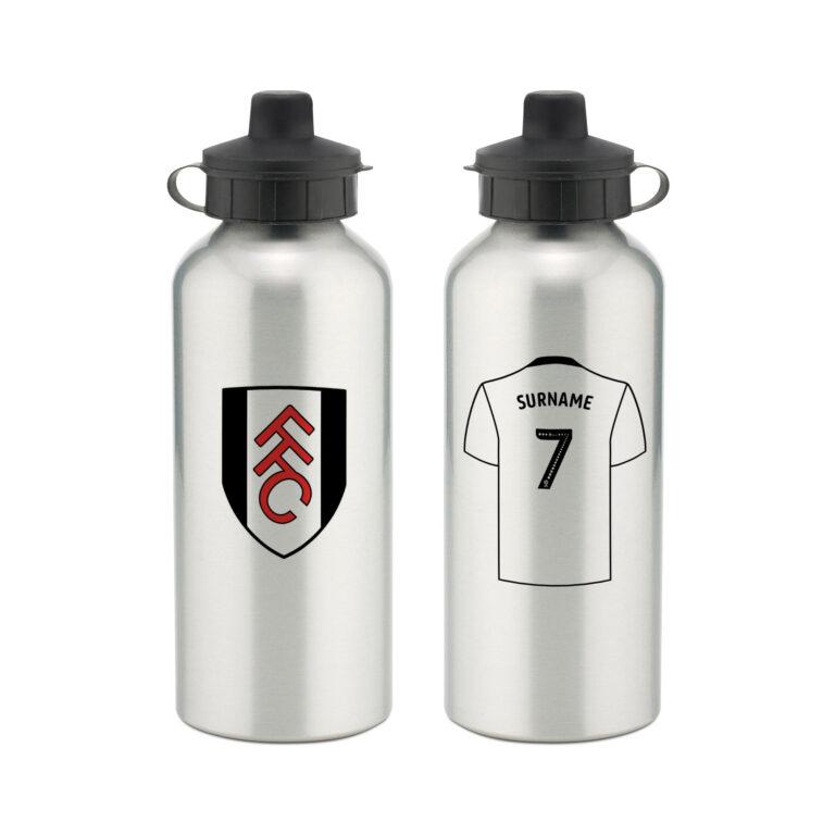 Personalised Fulham FC Aluminium Water Bottle