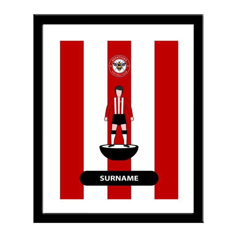 Personalised Brentford FC Player Figure Print
