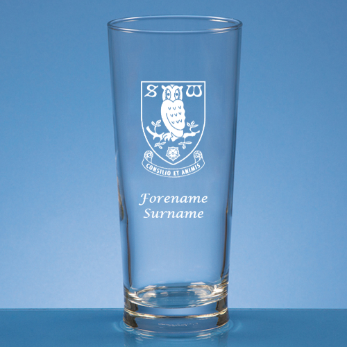 Personalised Sheffield Wednesday FC Beer Glass