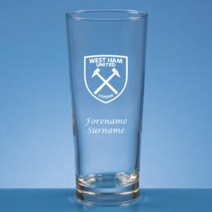 Personalised West Ham United FC Beer Glass