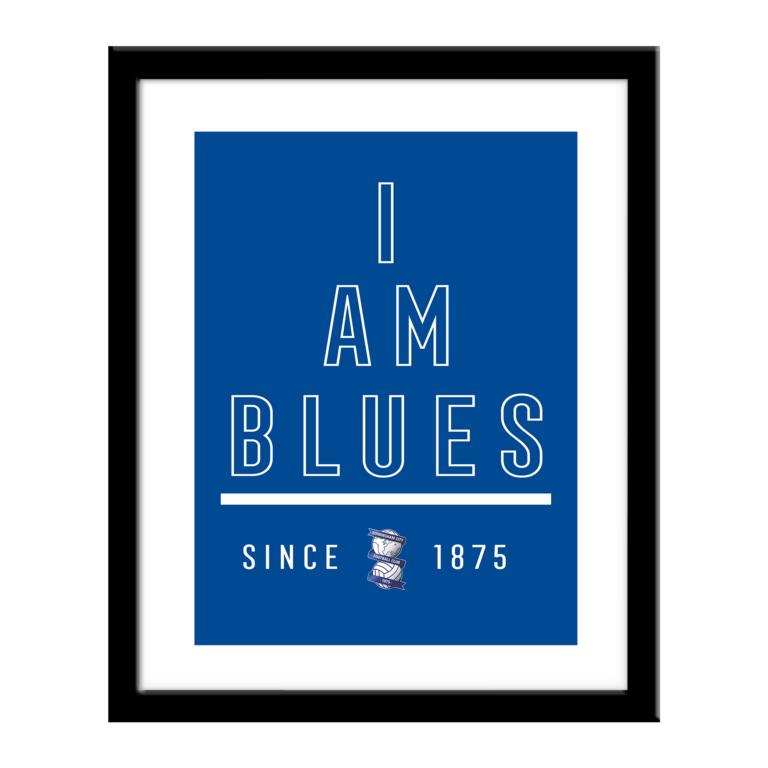 Personalised Birmingham City FC I Am Print