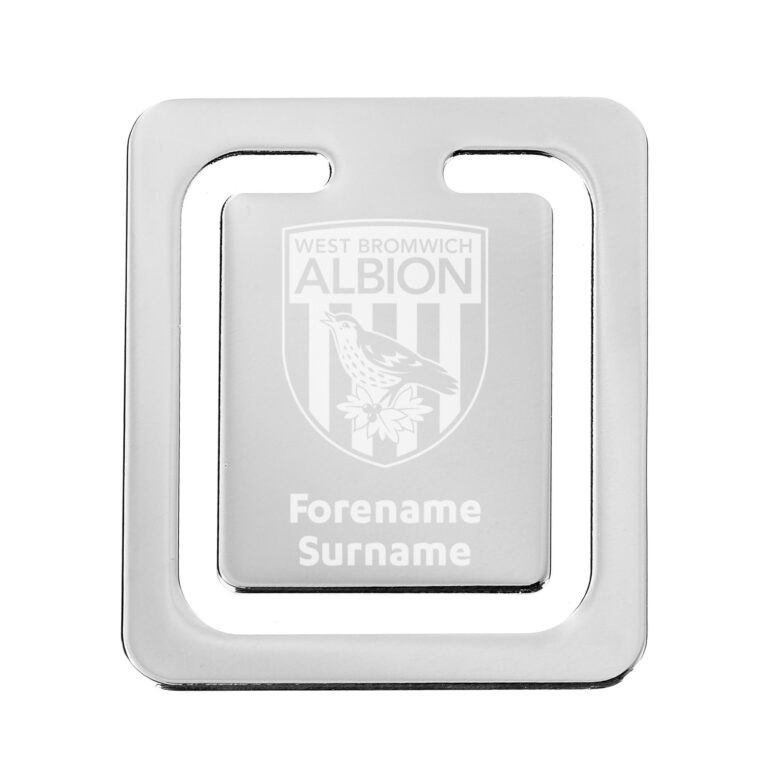 Personalised West Brom FC Crest Bookmark