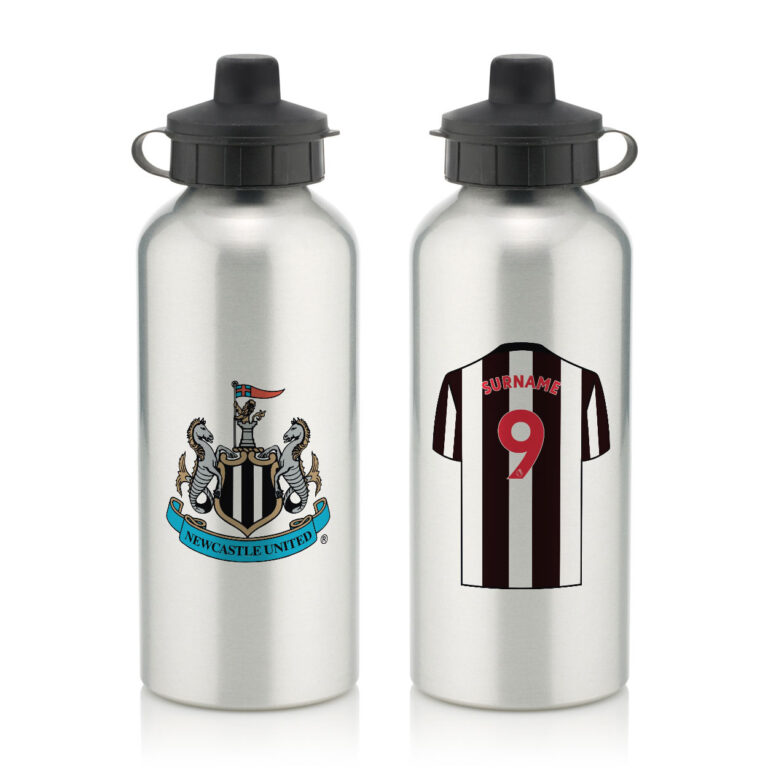 Personalised Newcastle United FC Aluminium Water Bottle