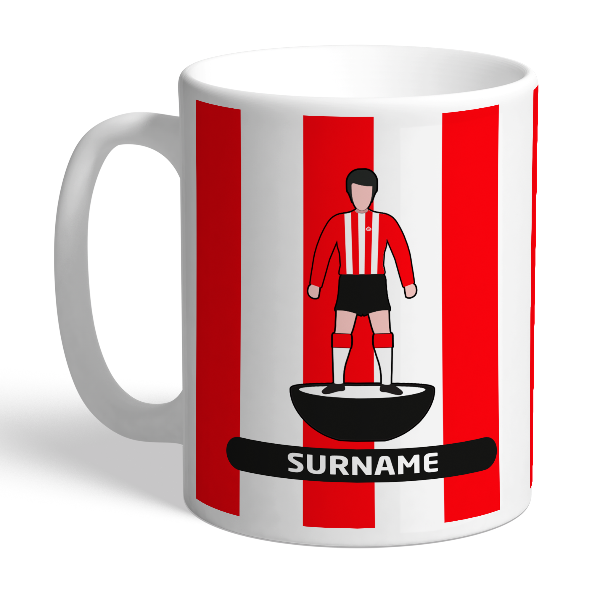 Personalised Sunderland FC Player Figure Mug