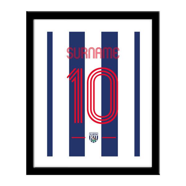 Personalised West Brom FC Retro Shirt Print