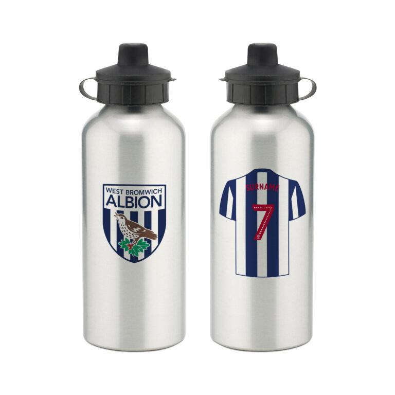 Personalised West Brom FC Aluminium Water Bottle