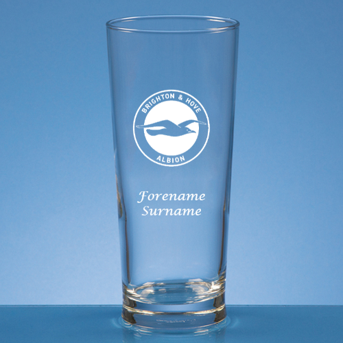 Personalised Brighton & Hove Albion FC Beer Glass