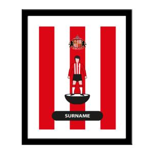 Personalised Sunderland FC Player Figure Print