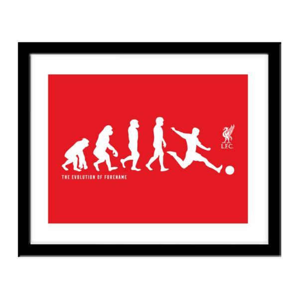Personalised Liverpool FC Evolution Print