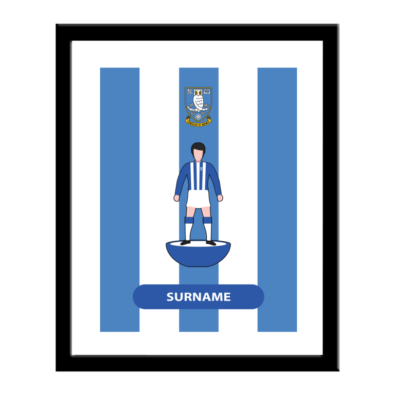 Personalised Sheffield Wednesday FC Player Figure Print