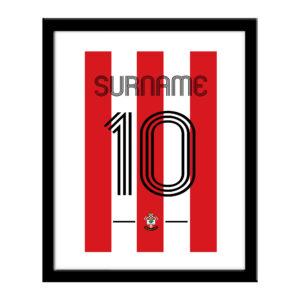 Personalised Southampton FC Retro Shirt Print