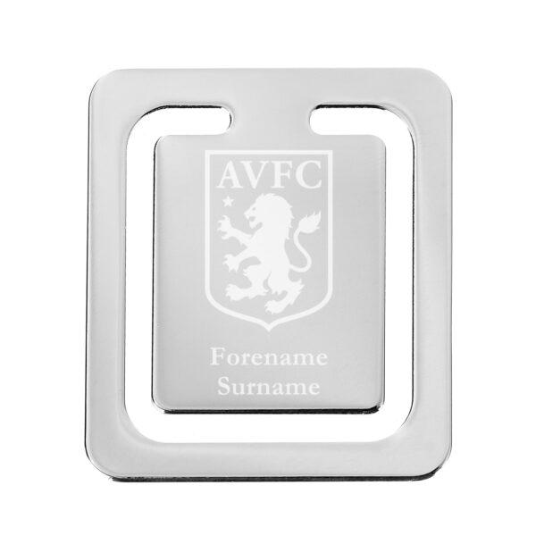 Personalised Aston Villa FC Crest Bookmark