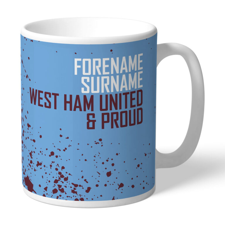 Personalised West Ham United FC Proud Mug