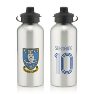 Personalised Sheffield Wednesday FC Retro Shirt Water Bottle