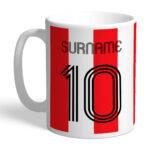 Personalised Southampton FC Retro Shirt Mug