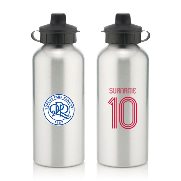 Personalised QPR FC Retro Shirt Water Bottle