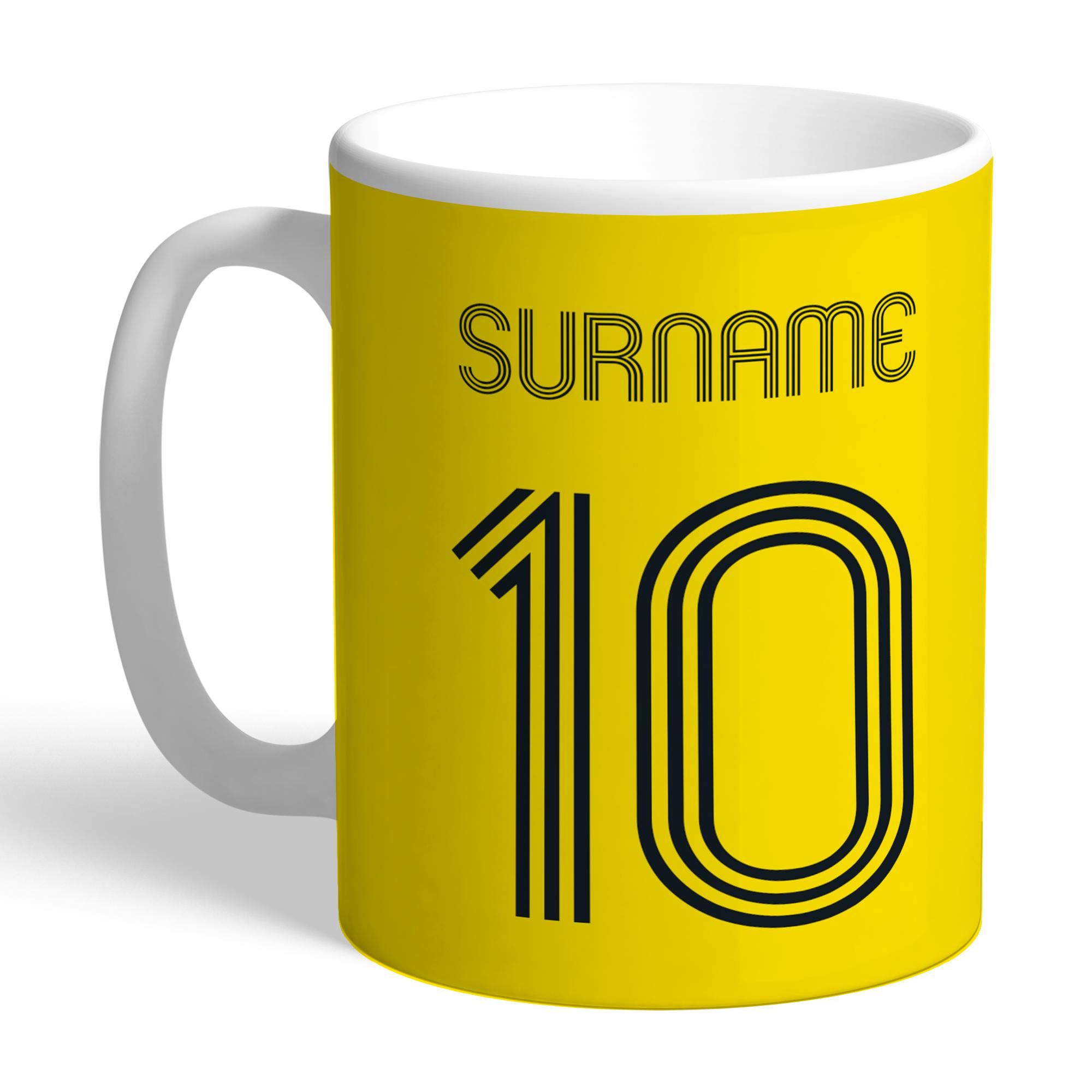 Personalised Watford FC Retro Shirt Mug