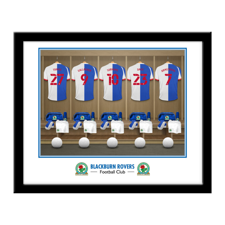 Personalised Blackburn Rovers FC Dressing Room Framed Print